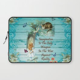 Floral Alice In Wonderland Quote - Imagination Laptop Sleeve