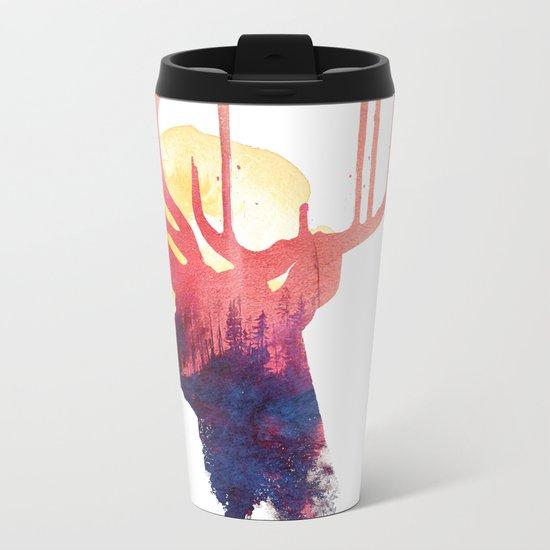 The burning sun Metal Travel Mug
