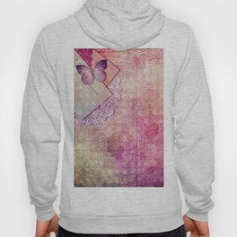 Pretty Vintage Butterfly Antique Texture Creative Hoody