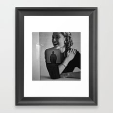 smiling Grace can't understand Framed Art Print