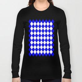 Diamonds (Blue/White) Long Sleeve T-shirt