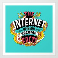 internet Art Prints featuring The Internet. by Chris Piascik