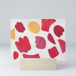 37  | 190408 Red Abstract Watercolour Mini Art Print