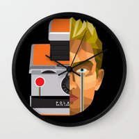 polaroid Wall Clocks featuring Polaroid by Cole Ellison