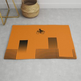 Witch on a Bicycle Rug