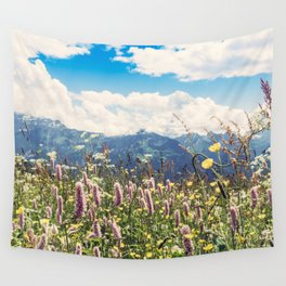 Mountain Flowers Wall Tapestry