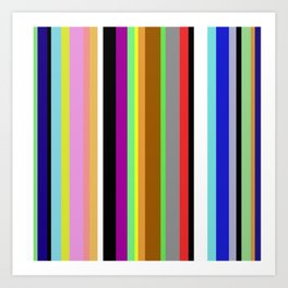 Say It With Stripes - Colourful, stripy pattern Art Print
