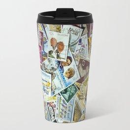 Postage Stamps Travel Mug
