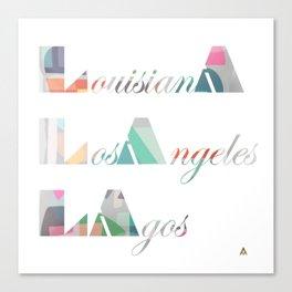 LA Cubed Canvas Print