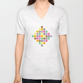 Candy Rounds White (Coal available too) Unisex V-Neck