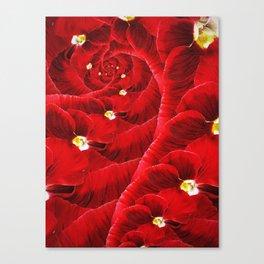 Floral Vortex. Canvas Print