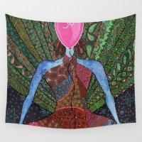 yoga Wall Tapestries featuring yoga by mawilda