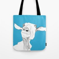 goat Tote Bags featuring Goat by caseysplace
