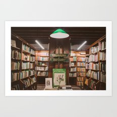 Bookstore magic corner Art Print