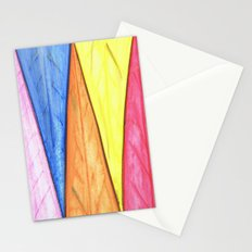 Abstract Triangles Stationery Cards