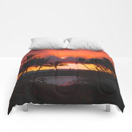 Sunset, Hawaii Comforters