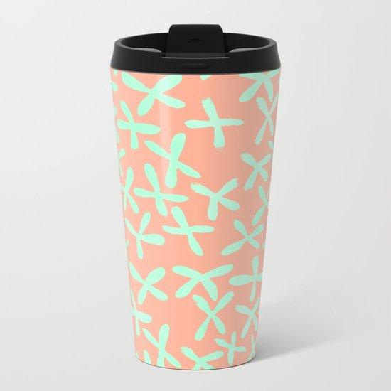Sweet Life Firefly Peach Coral + Mint Meringue Metal Travel Mug