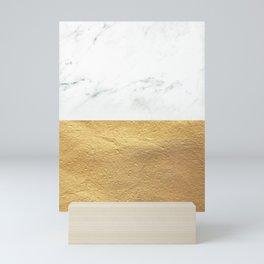 Color Blocked Gold & Marble Mini Art Print