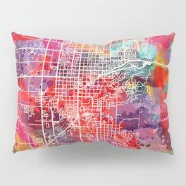 Logan map Utah UT 2 Pillow Sham