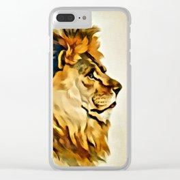 MAJESTIC LION PORTRAIT Clear iPhone Case
