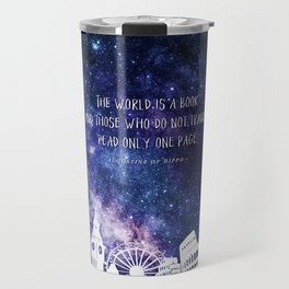 The world is a book Travel Mug