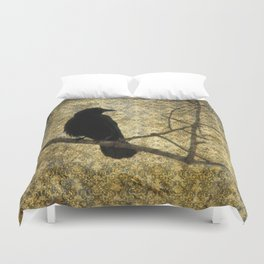 Crow Of Damask Duvet Cover