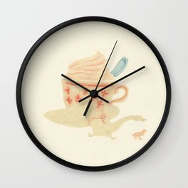 Un cappuccino with galloping goose per favore Wall Clock