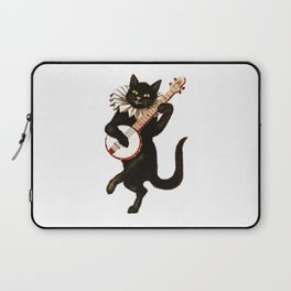 Black Halloween Cat for Decor and T Shirts Laptop Sleeve