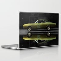 "seahawks Laptop & iPad Skins featuring 1968 Dodge Charger R/T - ""12th Man"" Charger by Scott Crawford 