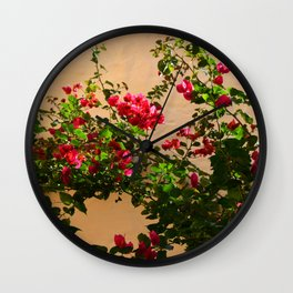 Photo 67 Pink flowers Wall Clock