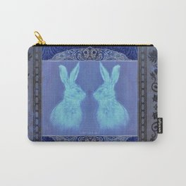 Happy Hare Blue Carry-All Pouch