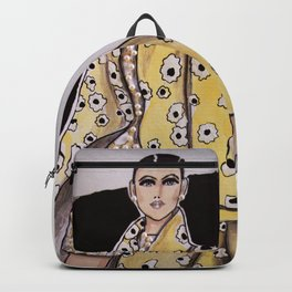 Anna In Floral Spring Haute Couture (Close-Up) By James Thomas Ryan Backpack