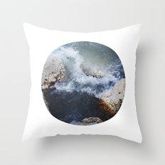 Planetary Bodies - Waves Throw Pillow