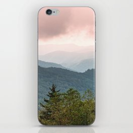 Great Smoky Mountain National Park Sunset Layers III - Nature Photography iPhone Skin