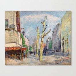 """Théophile Steinlen """"Café à Léon"""" Canvas Print"""