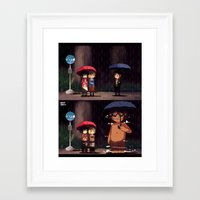 snk Framed Art Prints featuring SNK-My neighbor titan by Mimiblargh