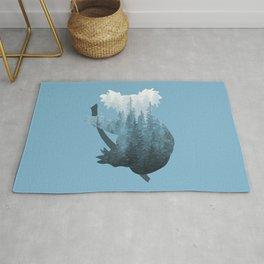 Misty Forest Koala Bear - Blue Rug