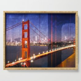 City Art Golden Gate Bridge Composing Serving Tray