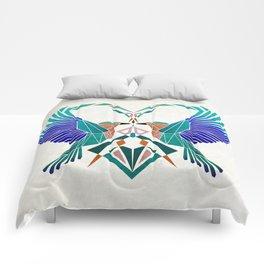 couple of blue birds Comforters