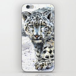 Snow leopard Wild and Free iPhone Skin