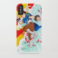 street fighter iPhone & iPod Cases featuring Chunli Street Fighter by Aimee Steinberger