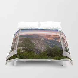 Hills through the window 2 Duvet Cover
