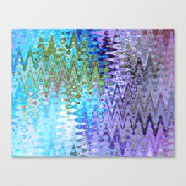 Charming Distractions, Abstract Art Waves Canvas Print
