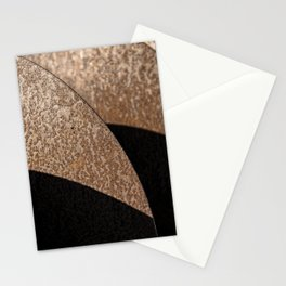 Rusted Disker Plow Light and Shadow Abstract Stationery Cards