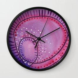 Purple Spiral Wall Clock