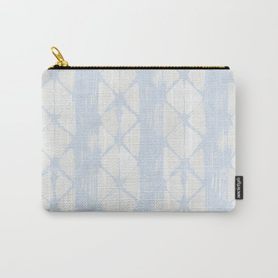 Simply Braided Chevron Sky Blue on Lunar Gray Carry-All Pouch