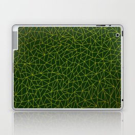 Gold Lowpoly in Green Background Laptop & iPad Skin