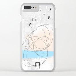Study in calm Clear iPhone Case