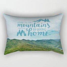 Going to the Mountains Rectangular Pillow