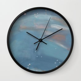 Abstract Blue Landscape, Wading Wall Clock